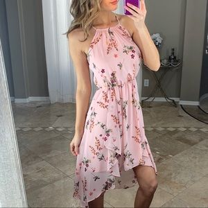 New White House Black Market Pink Floral Dress 0